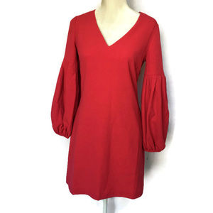 Chelsea28 Fusia Pink Dress with Puff Sleeves
